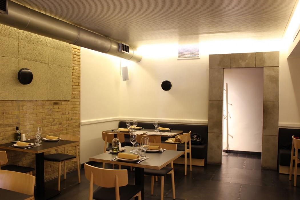 Zona de restaurante en planta altillo
