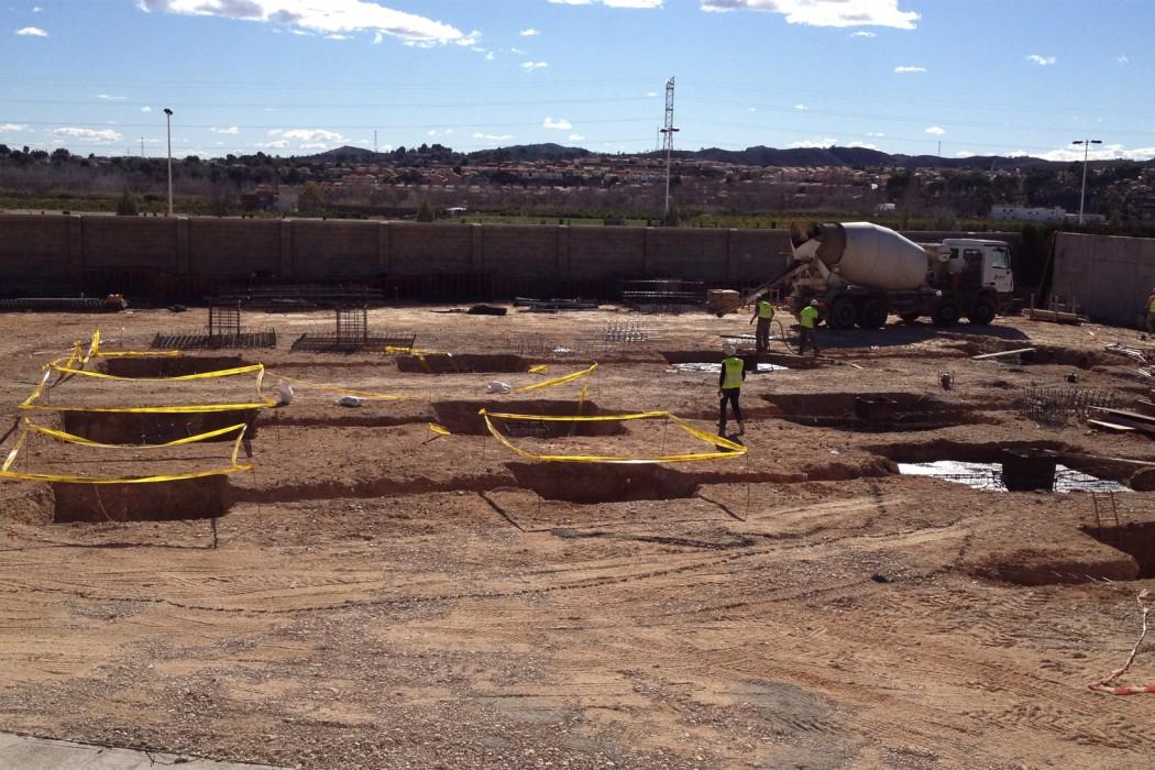 Fase de excavación y cimentación